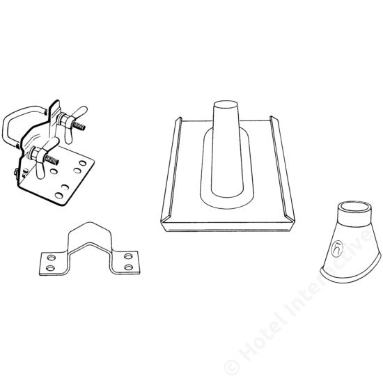 MZ 50; mast mounting set / oszlop szerelő készlet átm. 48-50 mm