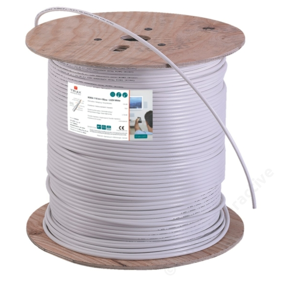 KOKA 110 A++ 500 m Cu white, drum,B2ca, LSZH (Low Somke Zero Halogen) (price per meter)