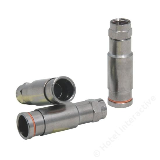 F-compression connector RG11 7,5/11,5 Triax. 50 pcs. bag.
