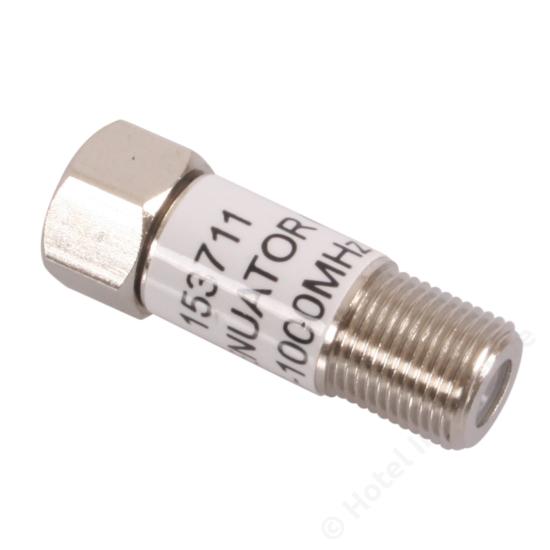 F-conn. 6 dB attenuator