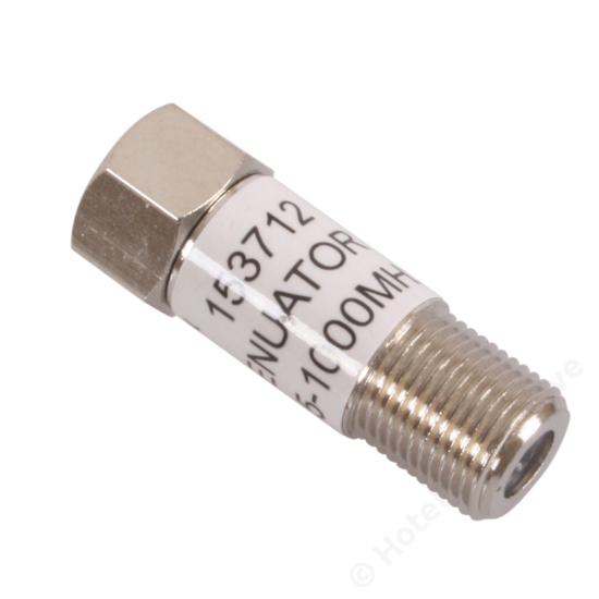 F-conn. 10 dB attenuator