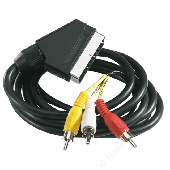 Modulator cable, Phono to Scart