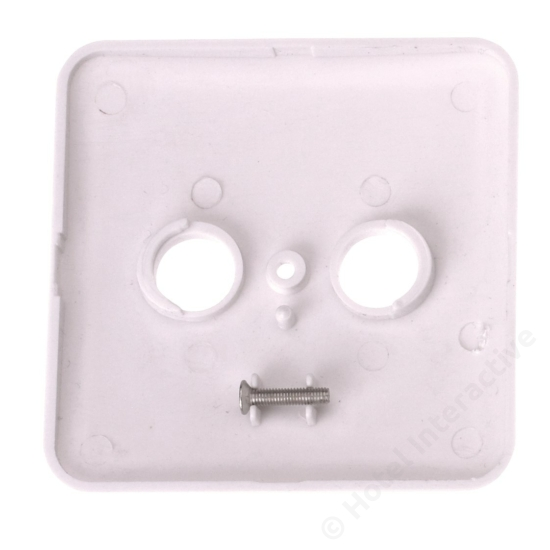 TOU Cover plate 2 hole White 80x80mm