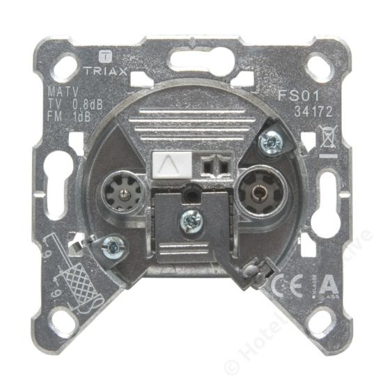 FS 01; terminated filter socket / szűrős végelzáró csatlakozó aljzat, 4-1000 MHz, 1,5 dB