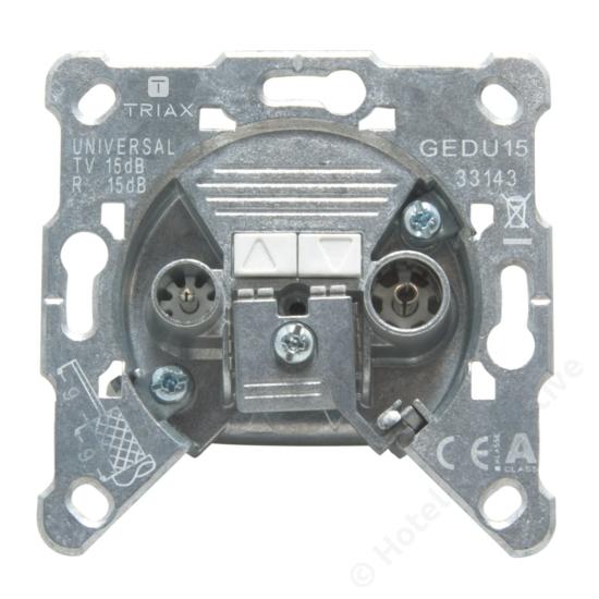 GEDU 15; loop through socket / felfűzhető csatlakozó aljzat, 4-2400 MHz, 15 dB