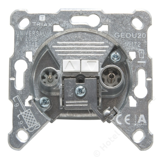 GEDU 20; loop through socket / felfűzhető csatlakozó aljzat, 4-2400 MHz, 20 dB