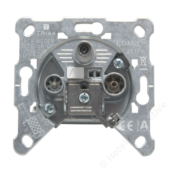 EDM 1, 3-way MM Wall Outlet,  1dB RP