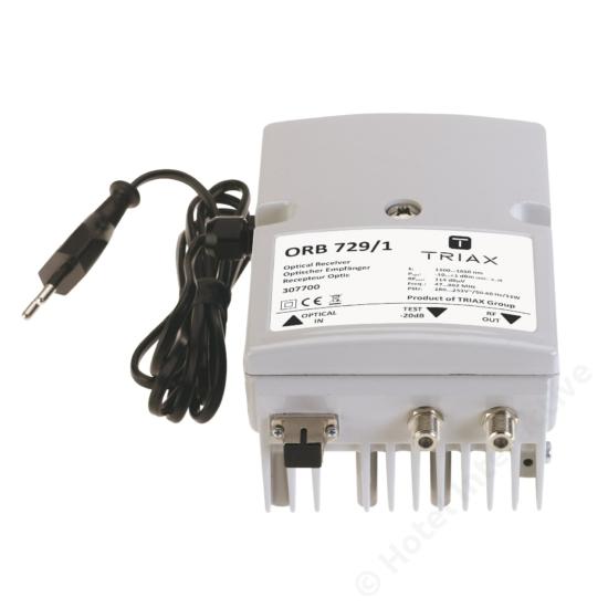 ORB 729/1 Optical Receiver, one way, one optical input, Mains PSU