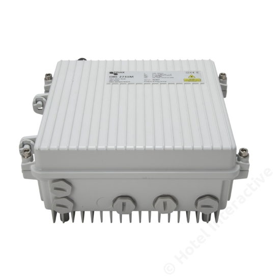ORC 2731/L Optical Receiver Node, w/return path, Line powered Ethernet monitoring embedded, DOCSIS monitoring ability (additional module needed)