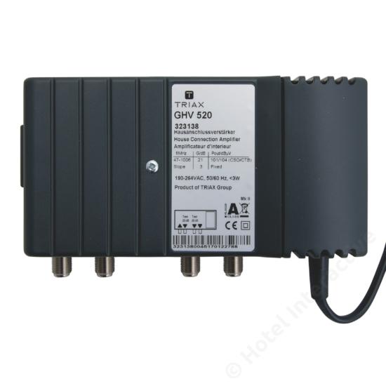 GHV 520; 20 dB, adjustable attenuation, no reverse channel / szintszabályzó, nincs visszirány