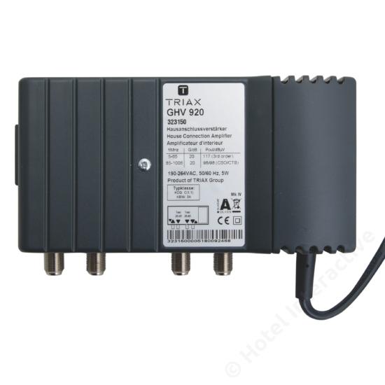 GHV 920; 20 dB, adjustable attenuation and equalization /  szint-, tiltszabályzó; 65MHz, 25 dB