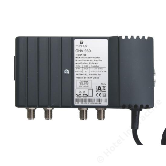 GHV 930; 30 dB, adjustable attenuation and equalization / szint-, tiltszabályzó; 65MHz, 23/32 dB