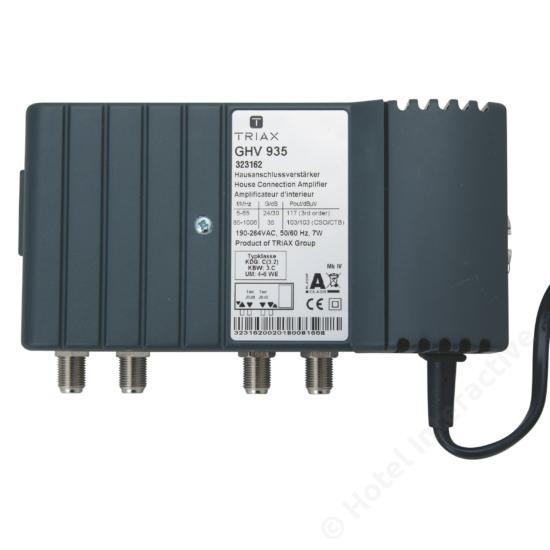 GHV 935; 30 dB, adjustable attenuation and equalization / szint-, tiltszabályzó; 65MHz, 23/32 dB