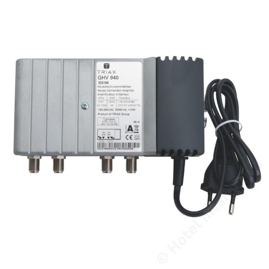 GHV 940; 40 dB, adjustable attenuation and equalization / szint-, tiltszabályzó; 65MHz, 26/32 dB