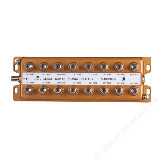 ACV 16; 16-way splitter, connectors on one side