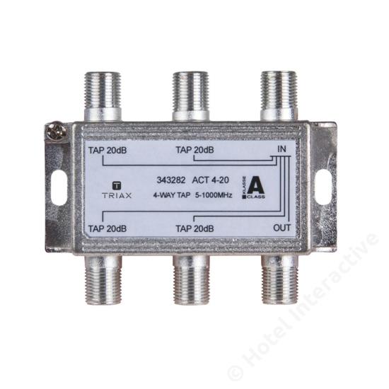 ACT 4-20; 4-way tap 20 dB