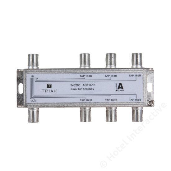 ACT 6-16; 6-way tap 16 dB
