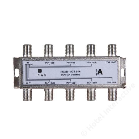 ACT 8-16; 8-way tap 16 dB