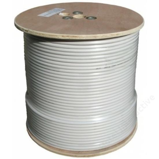 RG 6 tri-shield coax cable, 75 Ohm, 305 m (price per meter)